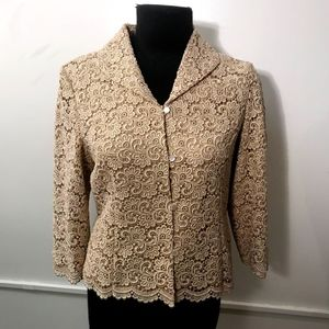 Gold lace jacket
